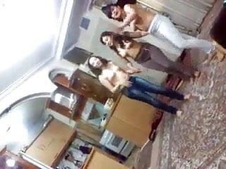 Indian hostel girls topless enjoying...