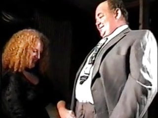 Fat mature boss fucks and gets strapon...