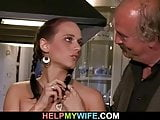 Cuckolding surprise for his young wife