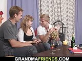 Hot mommy enjoys sucking and riding at same time