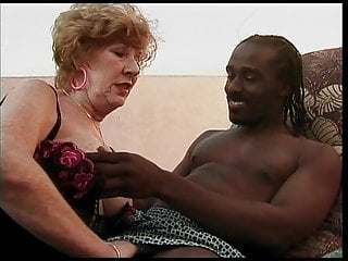 Stockings Black Big Cock video: DirtyDevil Vol.7 Old Redhead Granny Love's BBC