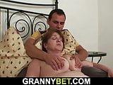 Guy doggy-fucks busty 65 years old granny