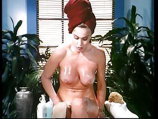 Moana Pozzi Lesbian scene Naked Goddess 1991