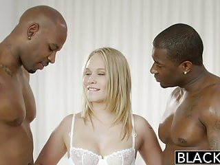 BLACKED Beautiful Blonde Dakota James Screams With 2 Big Bla
