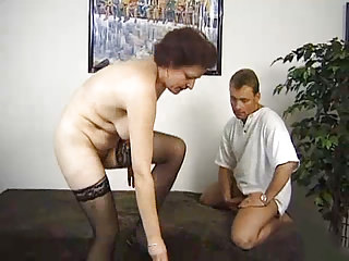 Surprise threesome with a german granny...