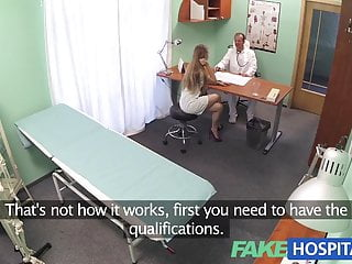 Fakehospital nurse with a great arse sucks and...