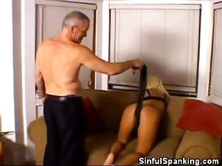 Spanking that with different objects...