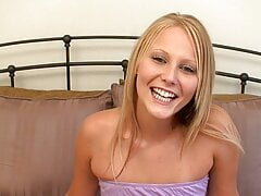 Watch this HOT blonde 18 yr old star in her first POV porn