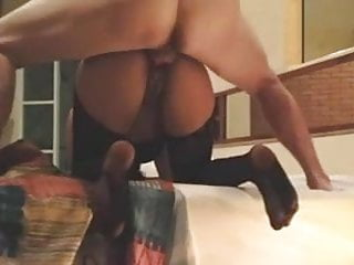 Asian wife bent over