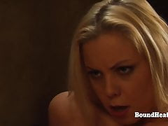 Blonde Lesbian Slave Orgasm From Pussy Fingering And Massage