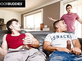 Friend Walks In On Roommates Jerking Off Together