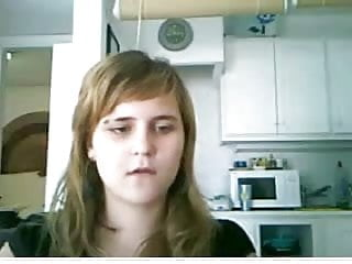 Webcam Spanish 20yo girl girlfriend mum showing tits