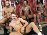 He cums without any cock touching between gay black men!