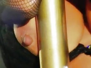 Hot hard nipples fat pussy pole rubbing show...