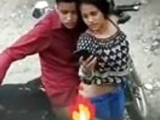 Desi Indian girl having Doggystyle sex outdoors