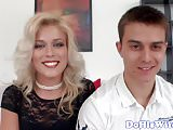 Cuckolding eurobabe gets jizzed in mouth