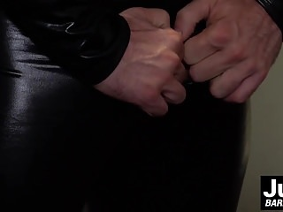 Rubber man stuffs his meaty into this...