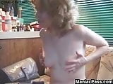 Mature ass probing at home
