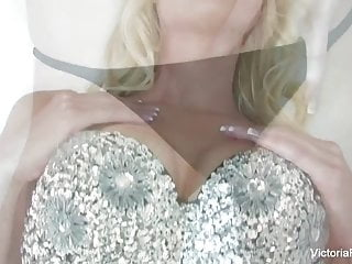 Long legged blonde victoria rubs her pussy to...