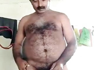 Indian daddy Big balls cum