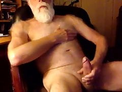 Silver dad play alone nice cum shot