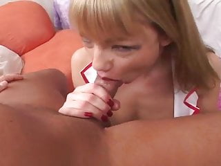 naughty nurse gives blowjob