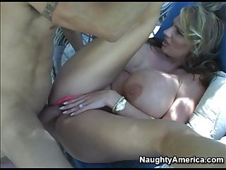 Naughty America Lisa Lipps fucking in the chair with her tit