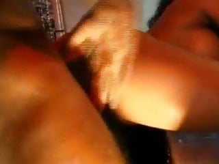 Ebony stripper gets fucked on a dance floor...