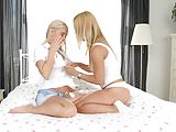 Nesty and Nikky Thorn in Morning Quickie - lesbian scene