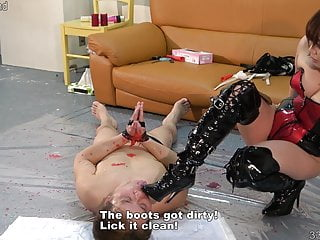 JAV Femdom Tsukuyomi Strap-on Pegging and Erotic Wax