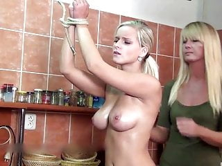 Miela – sexy topless whipping