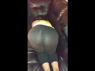 Darkfairys in see through yoga pants...