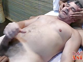 Horny dude gets fucked by guys after...