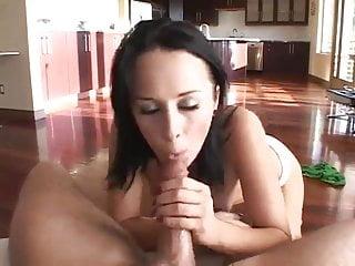 Brunette sucking cock...