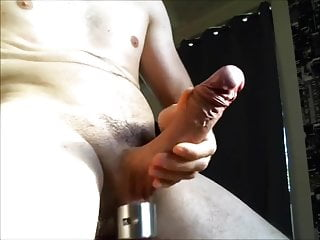 With Off Jerking Weighted Big Balls Cock