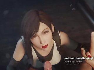 Final fantasy smearing lipstick blowjob facial...