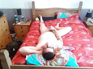 Jerking bed cock in big my