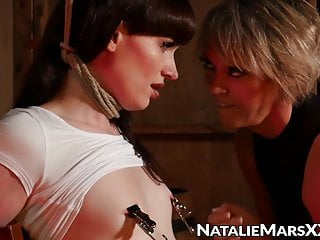 Tied up tranny natalie mars ball naughty blondie...
