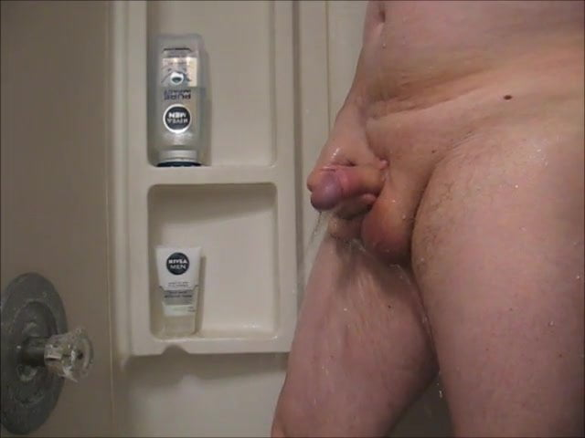 Playing with my cock peeing