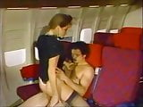 young air hostess fucked on air