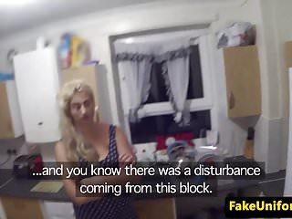 UK uniformed cop smashes busty babe on spycam