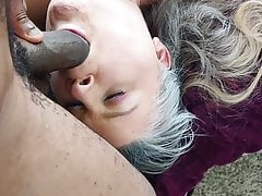 Warming my dick in her new collar