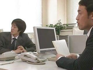 兩個傢伙他媽的和餅愛子廣瀨在的辦公室