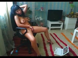 Milf watching porn...