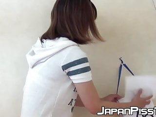 Real Japanese cuties filmed while peeing and having fun