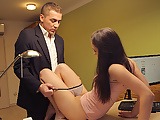 LOAN4K. Brunette babe is ready for anal sex to open tattoo..
