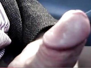 Nice dick being wanked off in the car...
