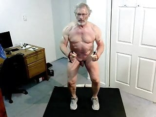 Grandpa nude work out...