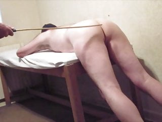 Sir examines by genitals and anus before caning me
