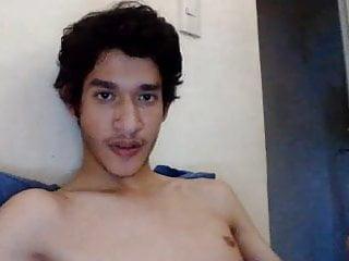 Boy showing ass on cam...